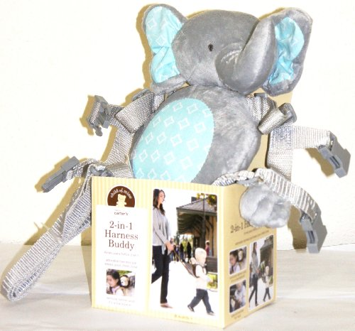 child of mine 2 in 1 Harness Buddy Silver Gray Elephant (Child Of Mine 2 In 1 Harness Buddy)