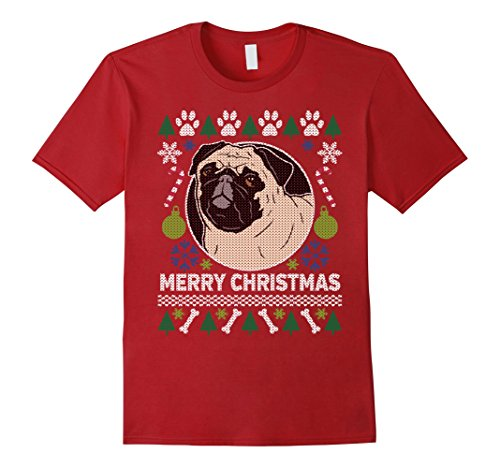 Men's Pug Dog Breed Owners Ugly Christmas T-shirt