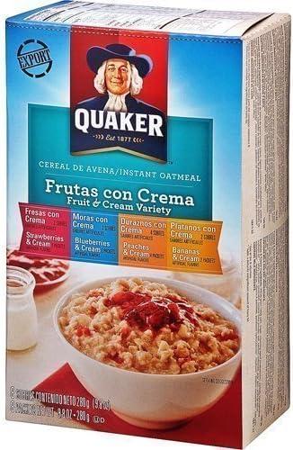 Avena Quaker Frutas y Crema Variedad paquete 280gX2: Amazon.es ...