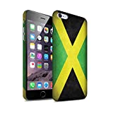 STUFF4 Matte Hard Back Snap-On Phone Case for Apple iPhone 6S+/Plus / Jamaica/Jamaican Design / Flags Collection