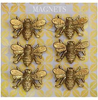 Creative Co Op Set Of 6 Pewter Bee Magnets On A Card 36 General