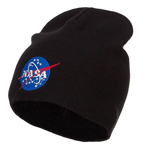 e4Hats.com NASA Insignia Embroidered Big Cotton Beanie - Black OSFM (E4hats Lightweight Beanie)