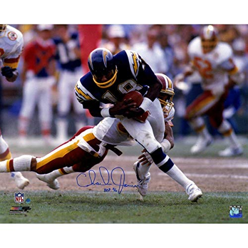 "Charlie Joiner Signed San Diego Chargers 16x20 Photo w/""HOF 96""Insc. - Steiner Sports Certified - Autographed NFL Photos"