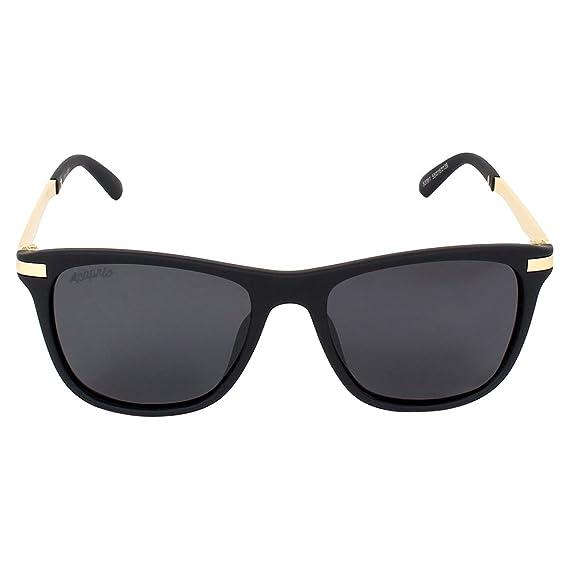 198afaa7fc3b Caprio Black   Gold-Toned Shiny Metallic Frame Unisex Oval Sunglasses   Amazon.in  Clothing   Accessories