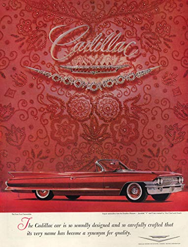 Soundly designed & carefully crafted Cadillac Sixty-Two Convertible ad 1961 H ()
