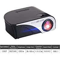 Mini Projector Multimedia Home Theater Video Projector 1080P 1200 Lumens Support HD Port AV SD USB