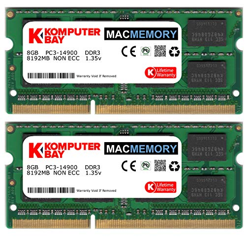 Komputerbay 16GB Dual Channel Kit 2x 8GB 204pin DDR3-1866 SO-DIMM 1866/14900S ( 1866MHz , CL13) for Apple iMac 275K (Late 2015) 1867MHz