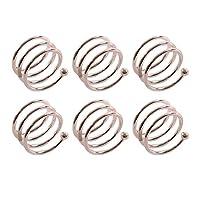 Frjjthchy 6 Pcs Stainless Steel Spiral Napkin Rings Serviette Holder (Silver)