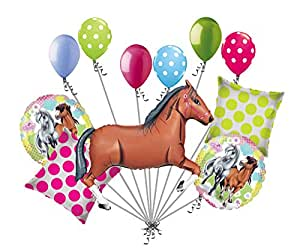 Amazon.com: 11pc café encantador caballo Globo Ramo ...