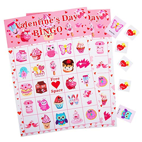 Valentine's Day Bingo Game for Kids - 24 Players ()