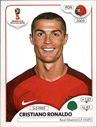 2018 panini world cup stickers russia 130 cristiano ronaldo portugal soccer sticker