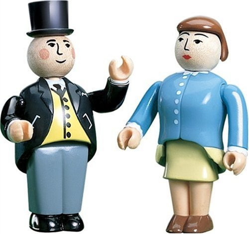 Sir Topham & Lady Hatt Figurines - Thomas Tank Engine Wooden - The Tank Lady Engine Thomas