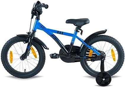 prometheus bicycles prometheus kinderfahrrad 16 zoll jungen und m dchen in blau schwarz mit. Black Bedroom Furniture Sets. Home Design Ideas