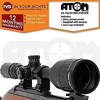 Atom 4-16x50 AO Antigolpes Alcance del Rifle/Ajustable Iluminado
