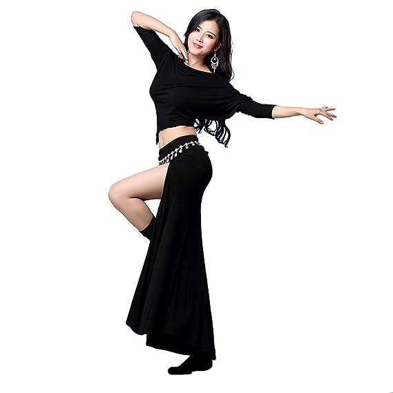 YiJee Mujer Ropa del Danza Belly Dance Tops Falda Danza del ...
