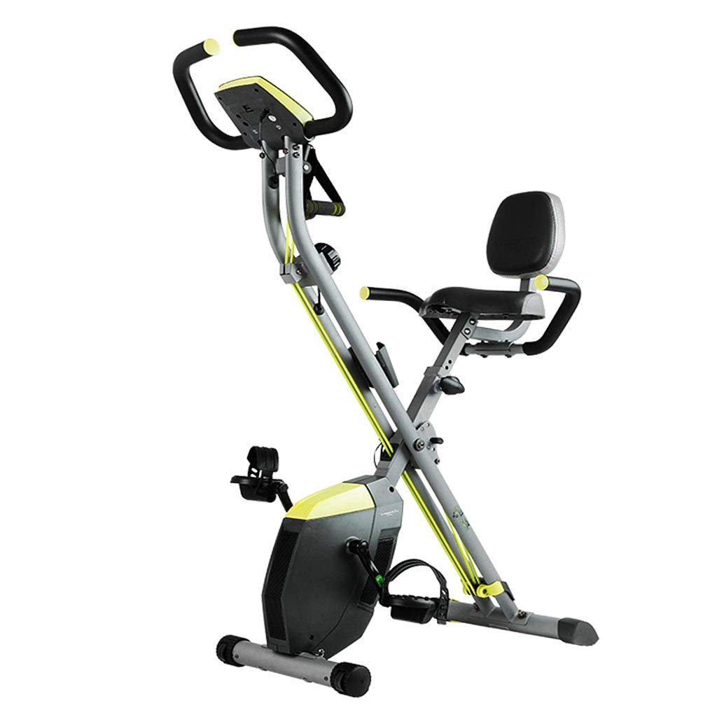 Green 10053128cm Elliptical Trainers Exercise Bike Mute Spinning Bicycle Weight Loss Folding Bicycle Home Indoor Fitness Equipment (color   Green, Size   100  53  128cm)