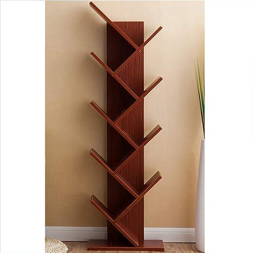 ssok shelf Madera En Forma de árbol Estantería Librería, Aterrizaje Soporte de exhibición del Libro Rack Estudiantes Multi-Capa Gabinete de almacenaje Estante Dormitorio Oficina-A 9- Niveles: Amazon.es: Hogar