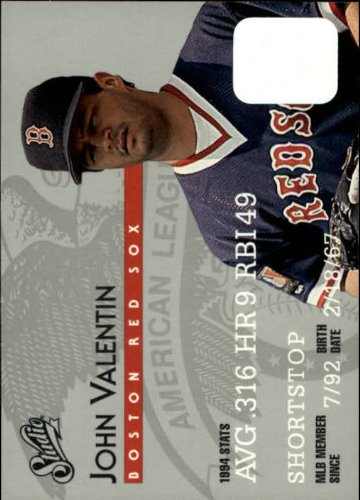 Valentin Cards Baseball - 1995 Donruss Studio Baseball Card #164 John Valentin Mint