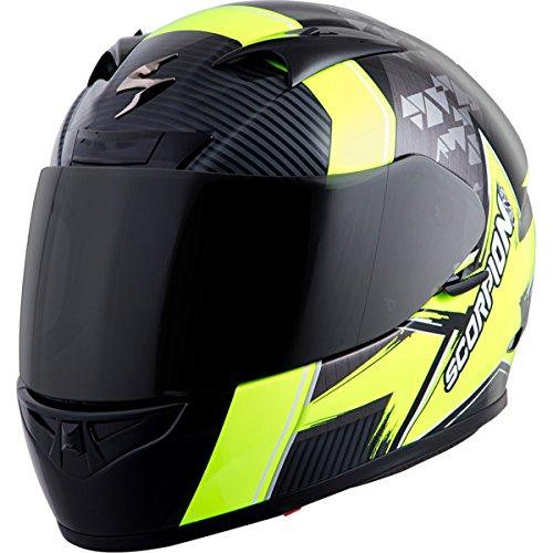 Scorpion EXO-R710 Crystal Street Motorcycle Helmet (Black/Neon, Medium)