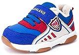 SFNLD InStar Kids' Fleeced Hook and Loop Antiskid Sneakers Shoes Blue 9 M US Toddler