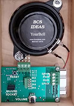 YourBell MP3 Door Chime, Programmable DoorBell, Unfinished MDF To Be Painted. Made In The USA By BCS Ideas Corporation.