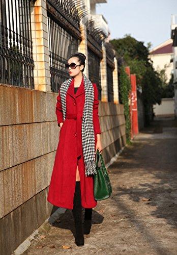 PLAER de la mujer moda elegante Abrigo de lana de Windbreaker chaqueta