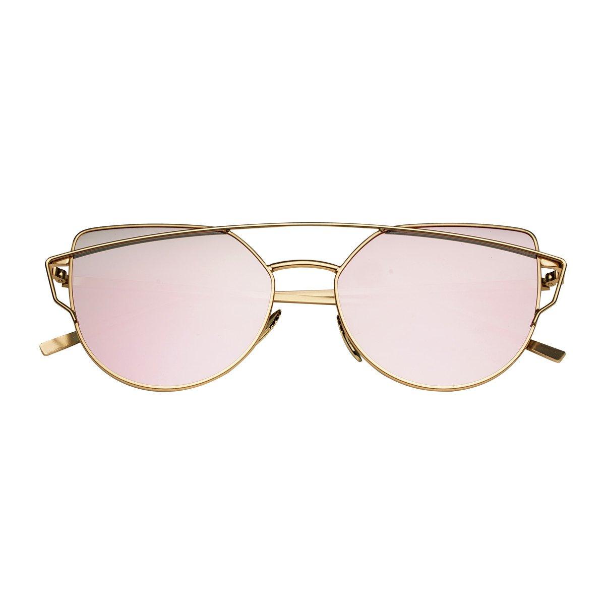 Delle signore della donna occhi di gatto occhiali sole classici degli occhiali da sole del metallo d...