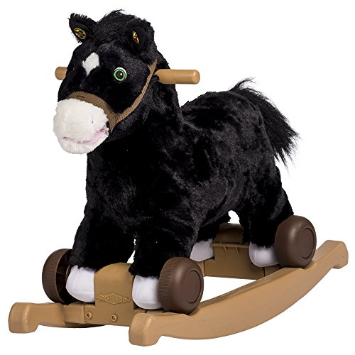 Rockin' Rider Cocoa 2-in-1 Pony Plush Ride-On, Black ()