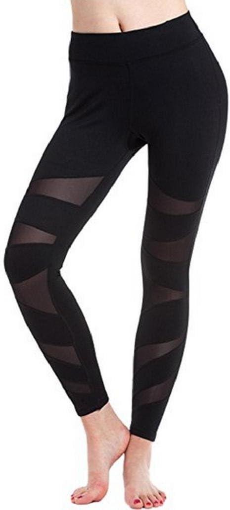 Pantalones mujer deporte Sannysis yoga pantalón chandal negro ...