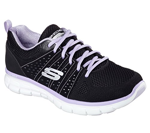 Skechers (SKEES) - Synergy-Look Book, Scarpa Tecnica da donna, nero (bklv), 40