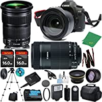 Canon EOS 5D Mark III with 24-105mm IS STM + 55-250mm STM + 2pcs 16GB Memory + Case + Memory Reader + Tripod + ZeeTech Starter Set + Wide Angle + Telephoto + Flash + Filter