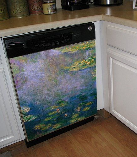 Appliance Art Water Lilies Dishwasher
