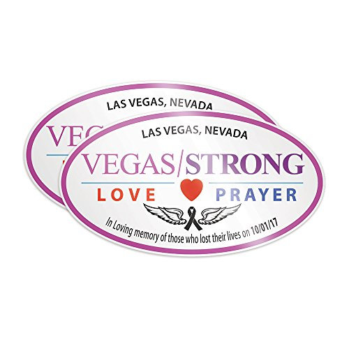 Las Vegas Strong-In Memory of the 58 Shooting Victims Sticker Set for your car window, bumper, laptop or suitcase Concert Decal
