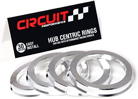 72.56mm OD to 57.1mm ID Circuit Performance Black Plastic Polycarbonate Hub Centric Rings