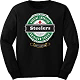 Football- Long Sleeve Steelers Beer Shirt - Sizes up to 6XL