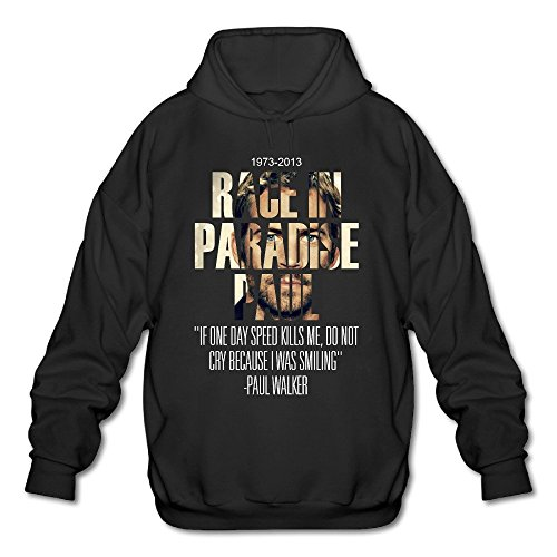 Men's Race In Paradise Paul Fast And Furious Paul Walker Sweatshirts Black