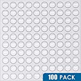 Eshanmu Clear Soft Close Drawer Cabinet Door Bumpers - 10mm4mm - Sound Dampening Adhesive Transparent Rubber Pads Feet - Surface Protection Furniture Stoppers Protector - Hemispherical Shape - 100pcs