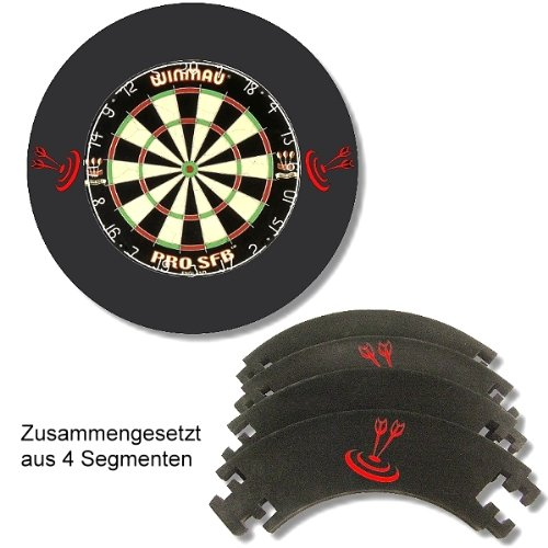 Dart Catchring Auffangring Surround schwarz von Roleo Darts 1a-sports