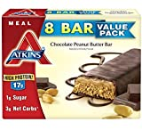 Atkins Meal Bar, Chocolate Peanut Butter Bar, 2.1oz Bar, 8 Count