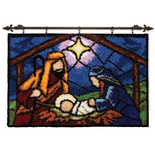 Herrschners® Stained Glass Nativity Latch Hook Kit