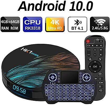 Android TV Box 9.0 4 GB 64 GB Smart TV Box Streaming Media Player RK3318 USB 3.0 Ultra HD 4K HDR Dual Band WiFi 2.4 GHz 5.8 GHz Bluetooth 4.1 Set Top