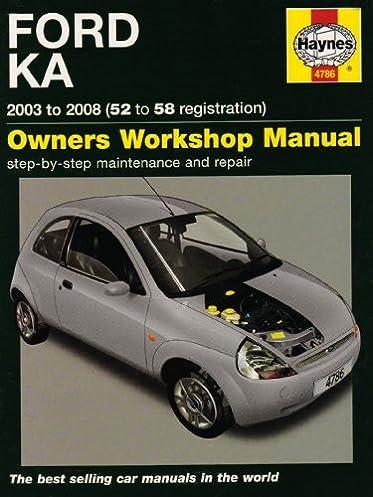 ford ka service and repair manual 2003 to 2008 haynes service and rh amazon com ford fiesta 2003 service manual manuel ford ka 2003 pdf