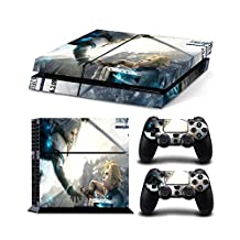 Sony PlayStation 4 Skin Decal Sticker Set - Final Fantasy 7 (1 Console Sticker + 2 Controller Stickers)