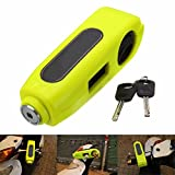 AUDEW Motorcycle /Scooter/ ATV /Handlebar Grip Lock ,Anti-theft Brake Lever Security Lock, Throttle Grip Lock Yellow