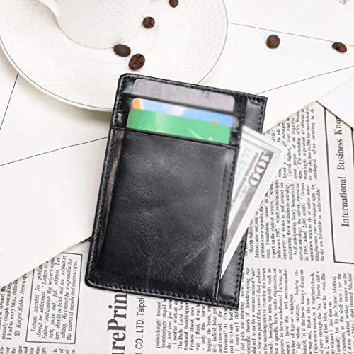 Avec color Black Brown Porte Blocage De cartes En Lightpurple Unisexe Crédit Rfid D'identité Cuir Light PZOwXWn6q
