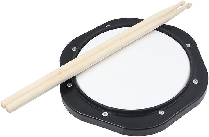 ROSENICE Drum Pad - Almohadilla de práctica para batería (25,4 cm, con baquetas y instrumento musical para batería nueva)