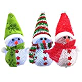 XUANOU Light Up Glowing Snowman Warm White Lighting LED Christmas Decoration Lamp