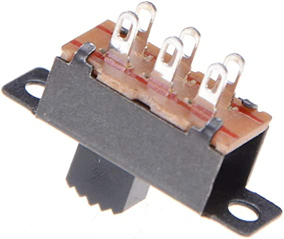 5x 3 Position DPDT Panneau Monté Mini Défilement Interrupteur 6 broche