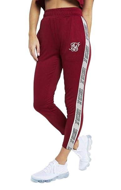 Sik Silk Pantalones Runner recortados Rojo: Amazon.es: Ropa y ...