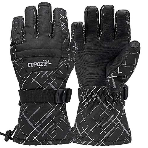 COPOZZ Waterproof Ski Gloves, Windproof Thermal Warm Winter Insulated...